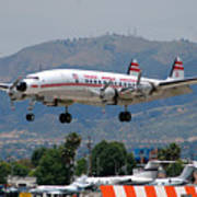 Twa Lockheed Super Constellation N6937c Art Print