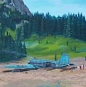 Twa Mountaintop Cabin Art Print