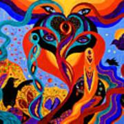 Karmic Lovers Art Print