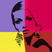 Twiggy Pop Art 1 Art Print