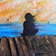 Twilifht On The Dock Art Print