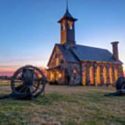 Twilight At Chapel Of The Ozarks - Top Of The Rock Missouri Art Print