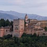 Twilight At The Alhambra Art Print