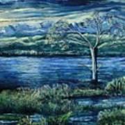 Twilight At The River Art Print