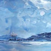 Twilight Beach Art Print