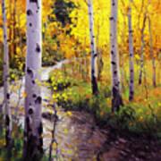 Twilight Glow Over Aspen Art Print