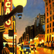 Twilight In Chicago - The Watcher Art Print