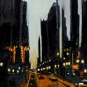 Twilight In Chicago Art Print