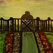 Twilight In The Park Art Print
