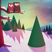 Twilight In The Woods Art Print