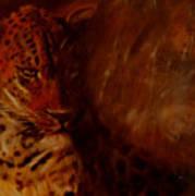 Twilight Leopard Art Print