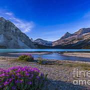Twilight On Bow Lake, Banff National Art Print