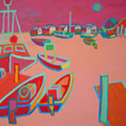 Twilight On Menemsha Art Print