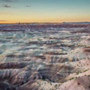 Twilight Over The Painted Desert Art Print