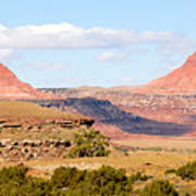 Twin Buttes Art Print