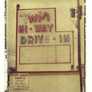 Twin Hi-way Drive-in Sign Art Print