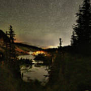 Twin Lakes Night Panorama Art Print
