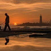 Twin Lakes Sunset Reflected Art Print