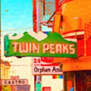 Twin Peaks Gay Bar In San Francisco . Painterly Style Art Print