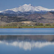 Twin Peaks Mccall Reservoir Reflection Print by James BO  Insogna