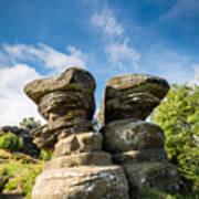 Twin Rocks At Brimham Art Print