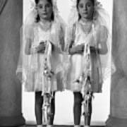 Twins First Communion 2 Art Print