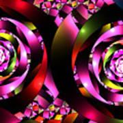 Twins Spiral Art Print