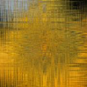 Twirl Art Yellow  Art Print