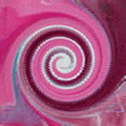 Twirl Pink  Art Print