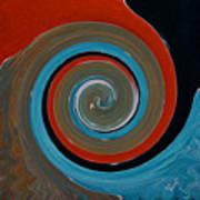 Twirl Red 01 Art Print