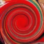 Twirl Red-0951 Art Print