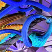 Twisted Blue Art Print