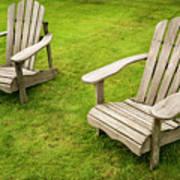 Two Adirondack Chairs Art Print