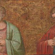 Two Apostles   Fragment Of Predella   Art Print