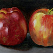 Two Apples Art Print