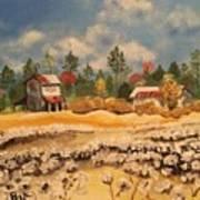 Two Barns Art Print