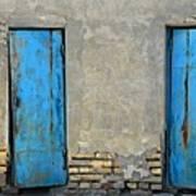Two Blue Doors   Bukhara Art Print