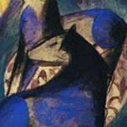 Two Blue Horses 1913 Art Print