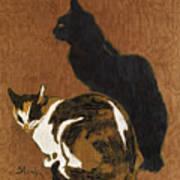 Two Cats Art Print