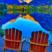 Two Chairs In Paradise Art Print
