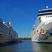 Two Cruise Ships Art Print