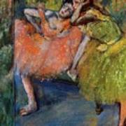 Two Dancers In The Foyer Art Print