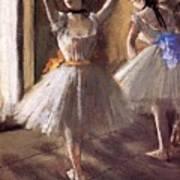 Two Dancers In The Studio Dance School Art Print