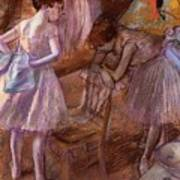 Two Dancers In Their Dressing Room Art Print
