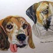 Two Dogs Art Print