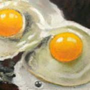 Two Eggs  Art Print