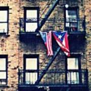 Two Flags In Washington Heights Art Print
