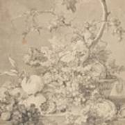 Two Floral Still Lifes Art Print