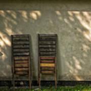 Two Folded Sun Chairs Art Print