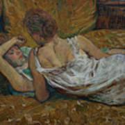 Two Friends Print by Henri de Toulouse-Lautrec